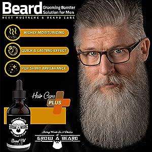 Hydrating & Nourishing  Healthier Beard Hair & Softer Skin Care - Prevent Dandruff Tame Frizzy Hair