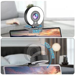 hd webcam with light