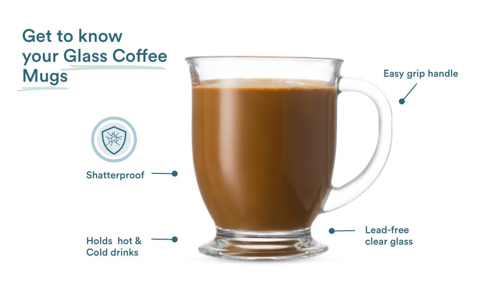 Glass Coffee Mugs by Kook