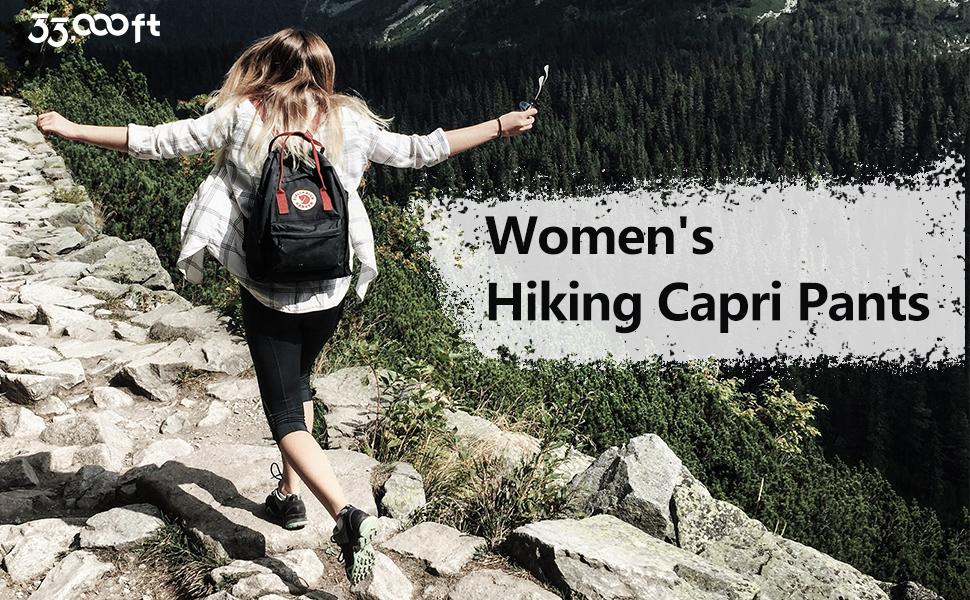 Women hiking capri pants