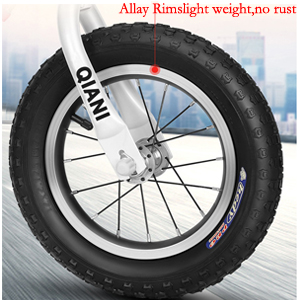 Kids blance bike Widened anti-skid Inflatable Tires  children bicycle Gifts red blue