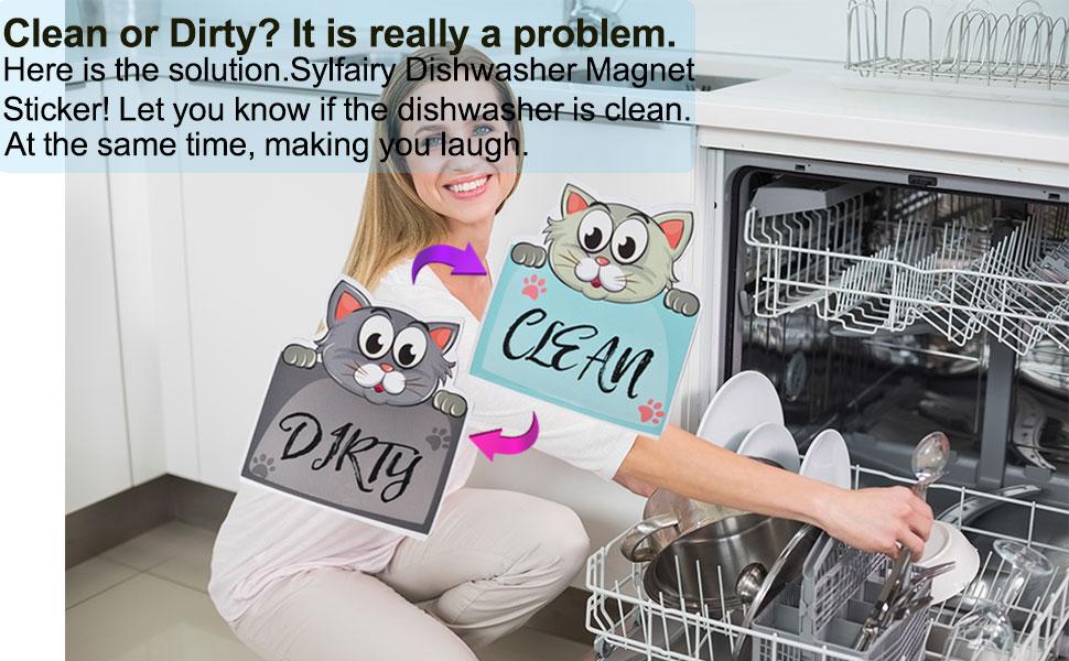 clean dirty disherwasher sign
