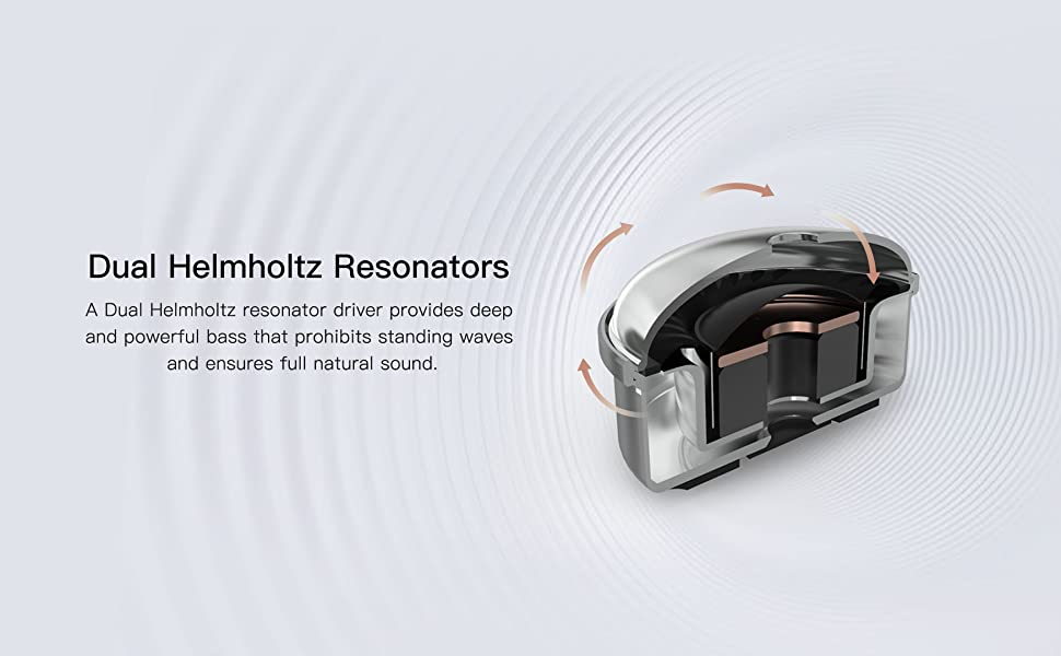 Dual Helmholtz Resonators for powerful bass and full, natural sound