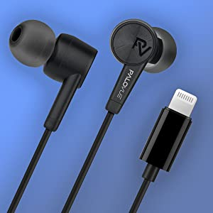 Lightning, Earphones, Headphones, Earbuds, MFi Certified, Workout, Sport, Noise Cancelling, iPhone.