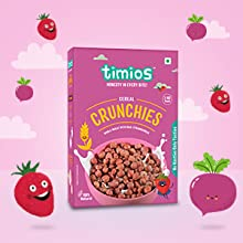 Kids Cereal for Breakfast for 2 year old Kid, Crunchies, Strawberry, Beetroot, Timios