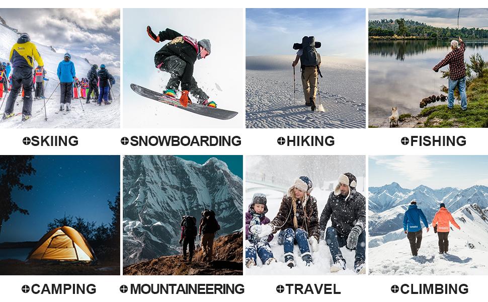 Men's Winter Pants Water Resistant Fleece Lined Snowboard Ski Pants Softshell Tactical Pants Pockets