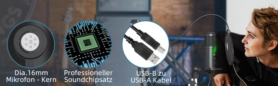 USB microfoon kit