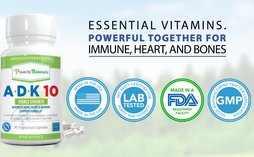 A D3 K2 vitamins