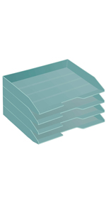 Acrimet Letter Tray Side Load Solid Green