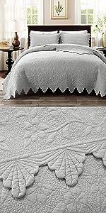 quilt set grey