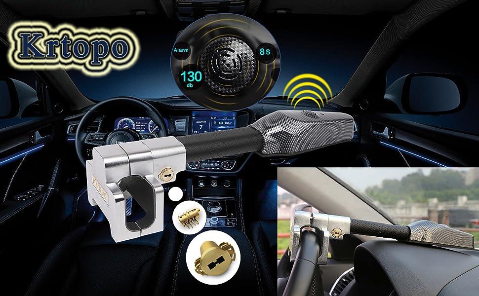 Lenkradschloss Universal Sicherheit Auto Anti Diebstahl Sicherheits Alarm Verschluss Einziehbare Lenkradkralle Auto