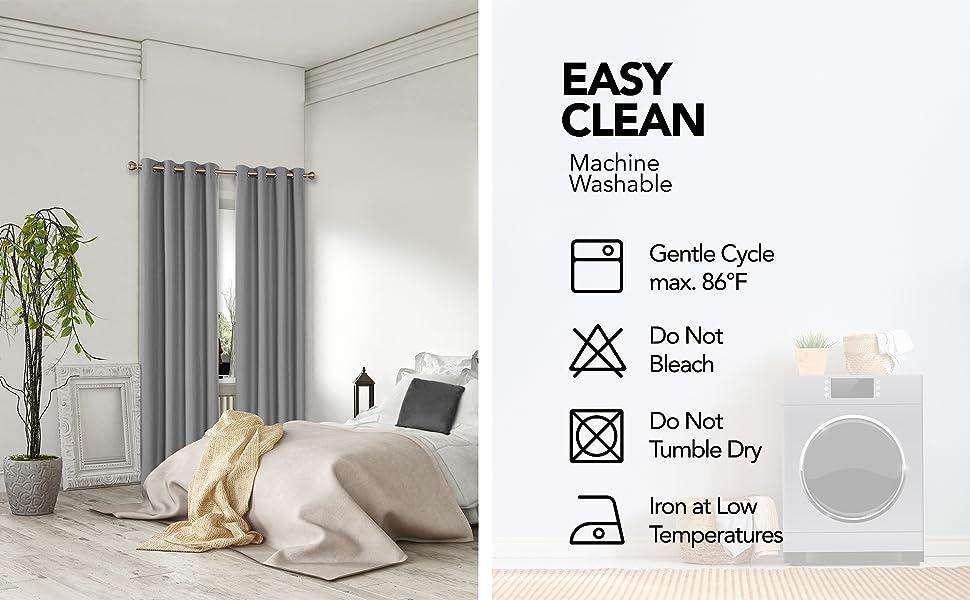 greytotal blackout curtains for bedroom livingroom