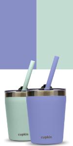 aqua perriwinkle stainless steel kids cups lids straw