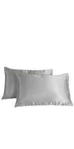Amazon Com Grey Pinch Pleated Bedding Light Grey Silk