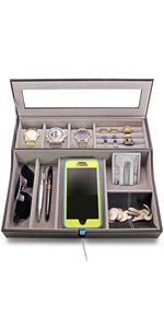 HOUNDSBAY navigator watch display valet tray great gift fathers day christmas xmas present