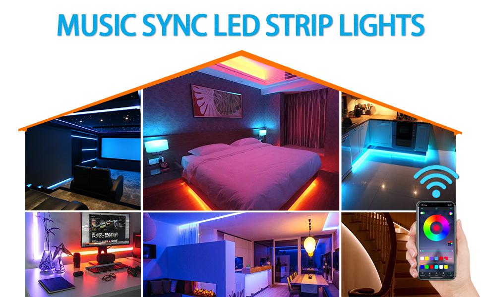 music sync led strip light