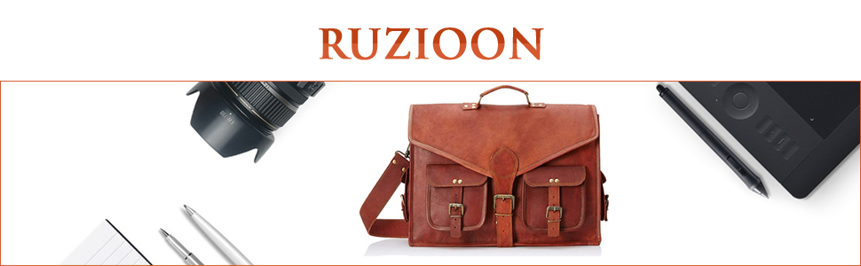 Ruzioon High Quality and Hand Crafted Genuine Leather Bags Duffle Gym Travel Airport Holiday