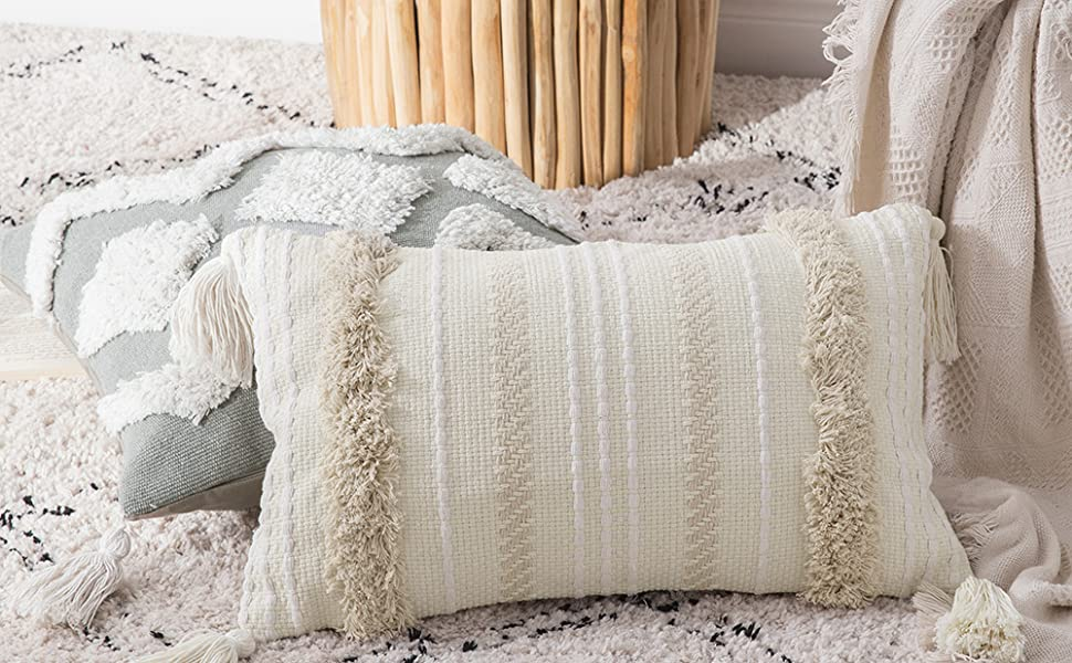tribal boho tufted pillow cover accent pillows
