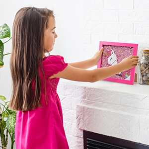 TOY Life 5D Diamond Painting for Kids with Wooden Frame - Diamond Arts and Crafts for Kids