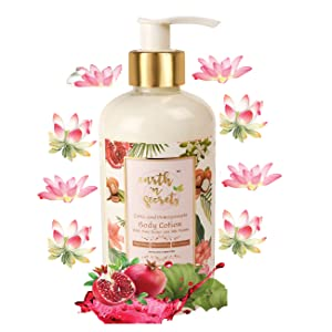 Earth N Secrets Body Lotion with silk protein, lotus & pomegranate