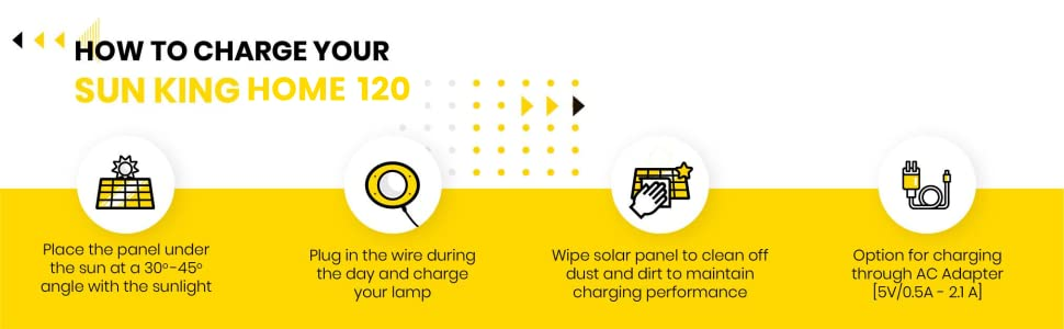 Sun King Home 120 Solar Home Lighting Set