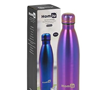 homiu water bottles vacuum seal drinks flask hot and cold