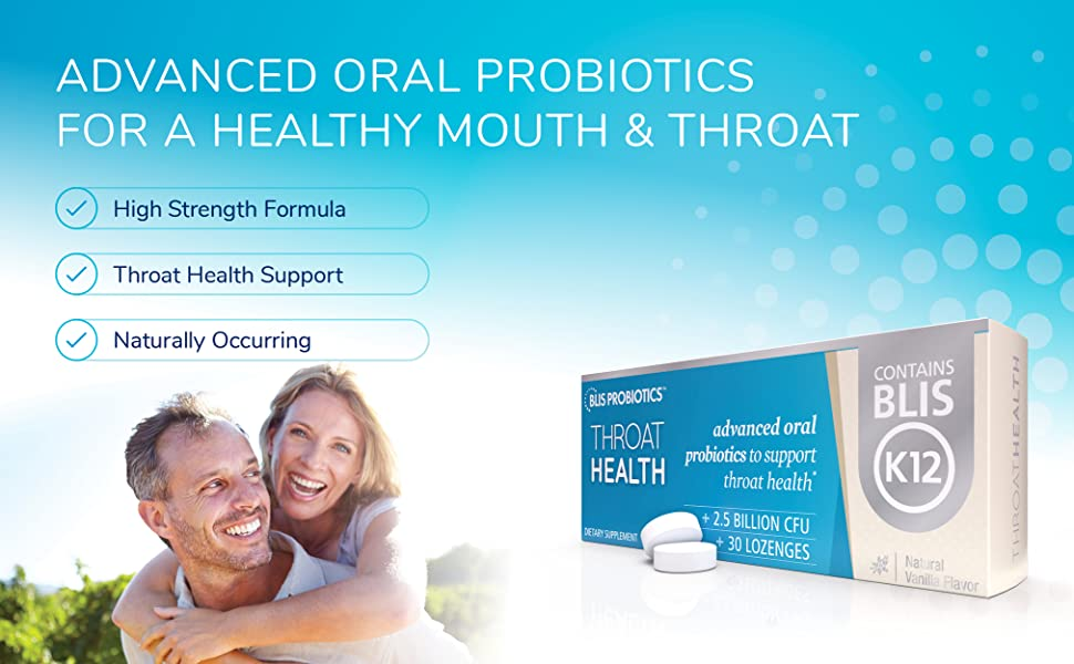 Advanced Oral Probiotics for a Healthy Mouth & Throat
