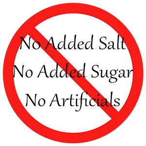 no salt no sugar additive free