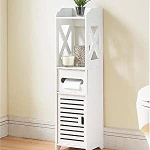 floor bathroom cabinet white