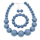 dust blue peark coker necklace