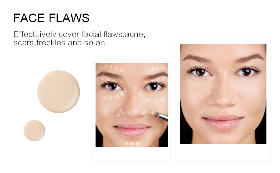 face flaws cover facial acne scars freckles and impressions