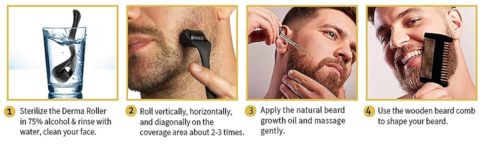 beard growth tool kit