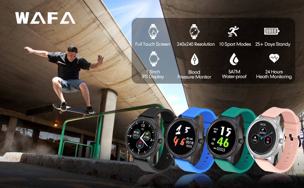 Smart Watch Fitness Tracker Watch with Heart Rate Monitor for android phones iphone compatible