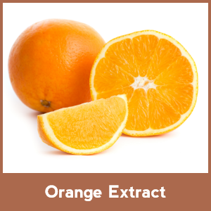 Orange extracts on face pack