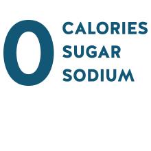 zero calories no sugar