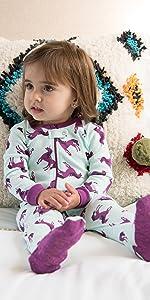 Leveret, unicorn pajamas, kids pajamas, girls pajamas, matching family pajamas