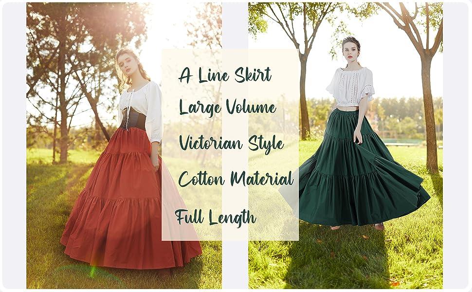 cotton maxi long skirt