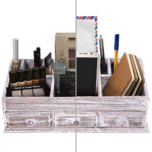 Organizador de escritorio de madera rústica para el hogar o la ...