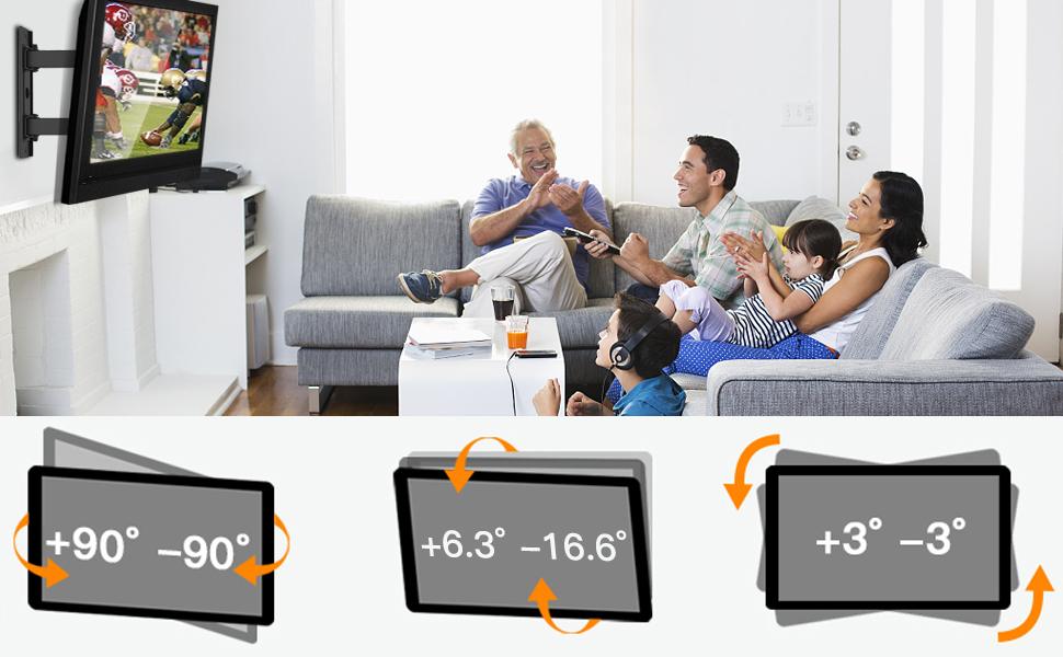 Soporte de Pared para TV - Extensión Articulado Giratorio para la Mayoría de los Televisores de 26-55 Pulgadas, hasta 40 kg, MAX VESA 400x400mm: Amazon.es: Electrónica