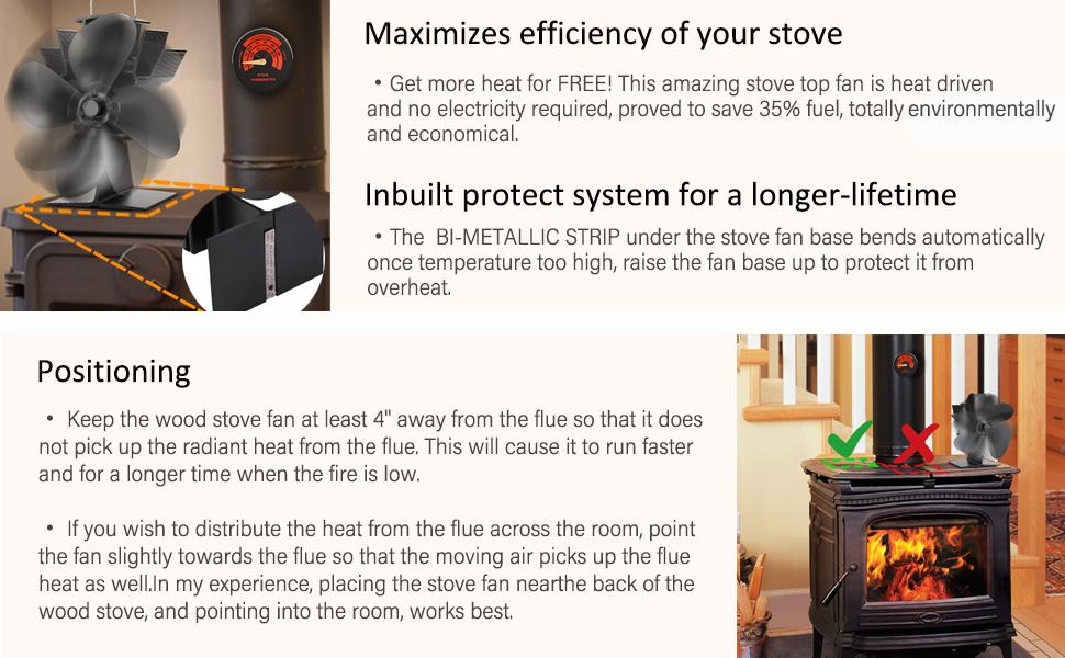 wood burning stove fan