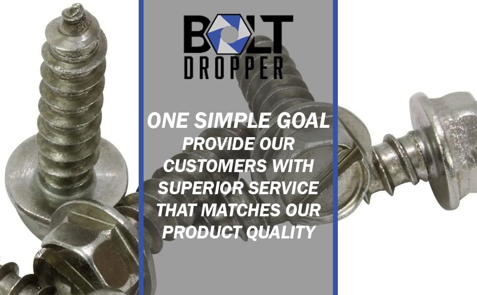 Bolt Dropper Slotted Hex Washer Head Screws