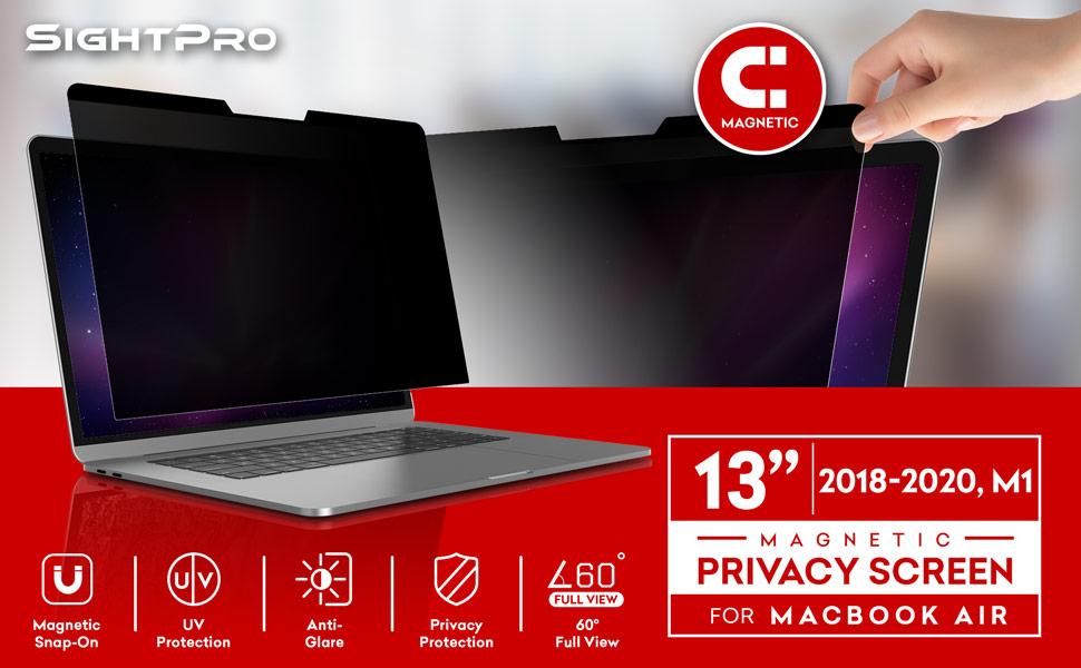 Anti-Spy Blickschutzfolie Sichtschutz-Folie upscreen Blickschutzfilter kompatibel mit Apple MacBook Pro 13 2020 Privacy Filter