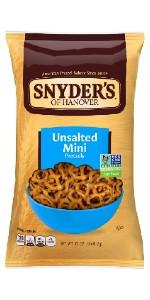 mini unsalted pretzel