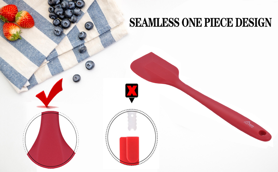 silicone spatula set red cooking mixing baking utensils food grade silicone dishwasher safe