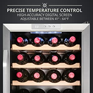 Ivation wine cooler easy digital control