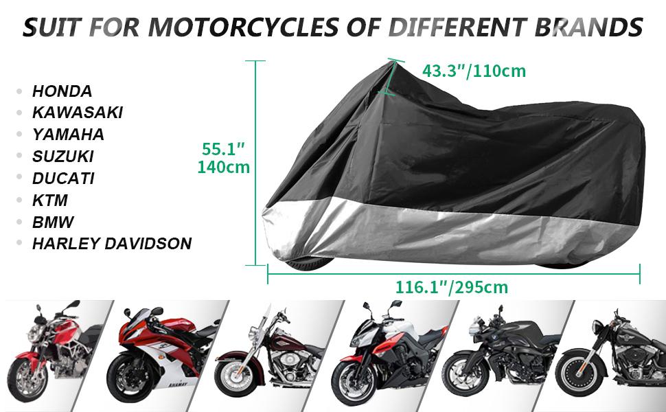 ILM Motorcycle Cover Waterproof Sunblock Dustproof XXXL Harleys Davidson Honda Suzuki BMW KTM
