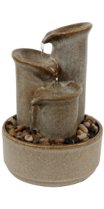 indoor tabletop ceramic fountain, ceramic water fountain, ceramic indoor tabletop fountain, fountain