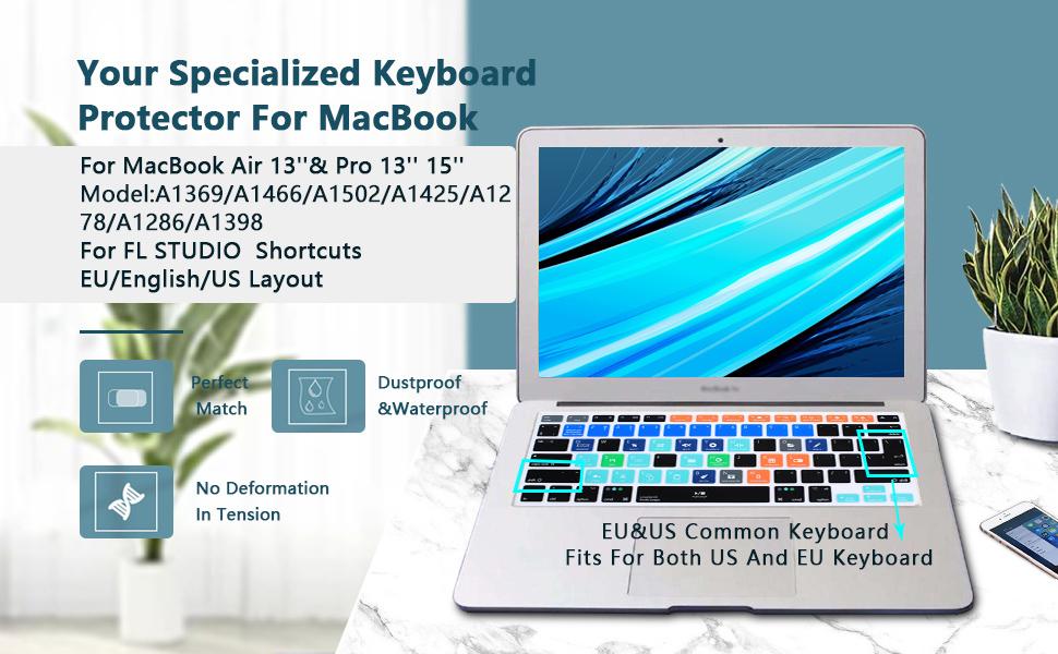 MMDW FL Studio - Funda de silicona para MacBook Pro de 13 pulgadas, 15 pulgadas, 17 pulgadas (con o sin pantalla Retina)
