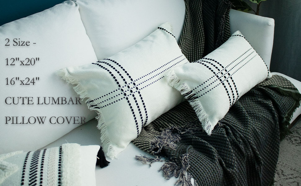 lumbar pillow cover 12x20 decorative pillows for couch