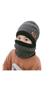 Winter Beanie Scarf Set for Kids (5-14 Years)
